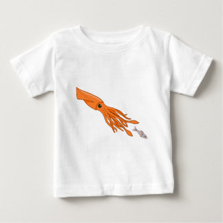Orange Squid Chase Baby T-Shirt