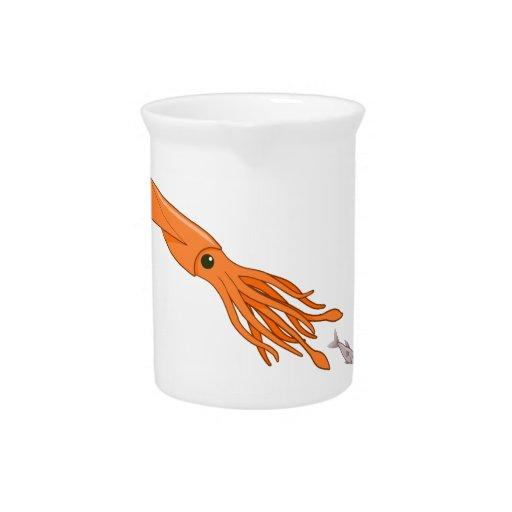 Orange Squid Chase Pitcher