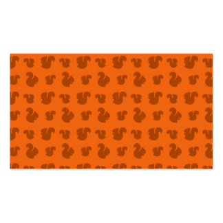 Orange squirrel pattern Double-Sided standard business cards (Pack of 100)
