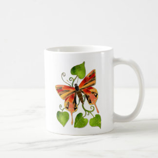 Orange Stained Glass Butterfly Mug