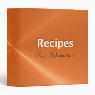 Orange stainless steel metallic | Recipes binders