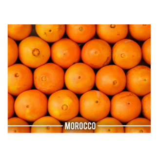 Orange Stalls in Marrakesh Morocco Postcard