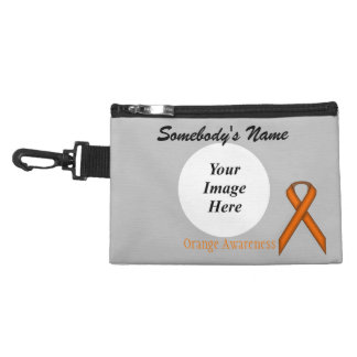 Orange Standard Ribbon Accessories Bag