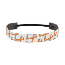 Orange Standard Ribbon Athletic Headband