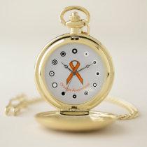 Orange Standard Ribbon (Bf) by K Yoncich Pocket Watch