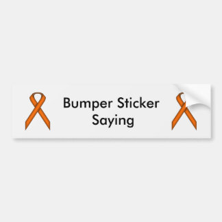 Orange Standard Ribbon Bumper Sticker