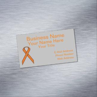 Orange Standard Ribbon Business Card Magnet