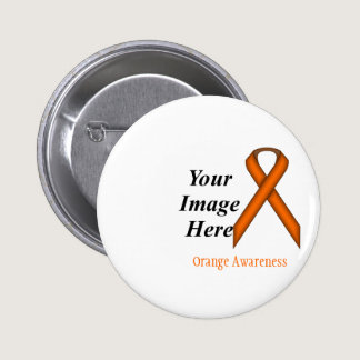 Orange Standard Ribbon by Kenneth Yoncich Button