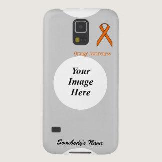 Orange Standard Ribbon by Kenneth Yoncich Case For Galaxy S5