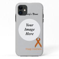 Orange Standard Ribbon by Kenneth Yoncich iPhone 11 Case