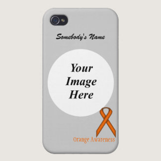 Orange Standard Ribbon by Kenneth Yoncich Cases For iPhone 4