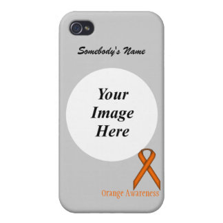Orange Standard Ribbon by Kenneth Yoncich Cover For iPhone 4