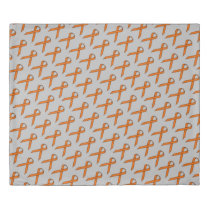 Orange Standard Ribbon by Kenneth Yoncich Duvet Cover