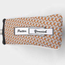 Orange Standard Ribbon by Kenneth Yoncich Golf Head Cover