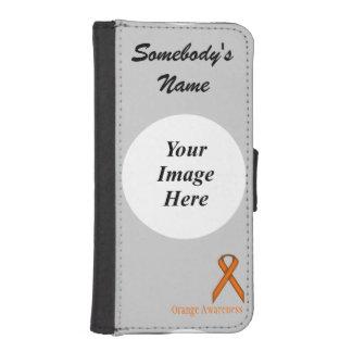 Orange Standard Ribbon by Kenneth Yoncich iPhone SE/5/5s Wallet Case
