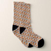 Orange Standard Ribbon by Kenneth Yoncich Socks