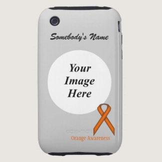 Orange Standard Ribbon by Kenneth Yoncich Tough iPhone 3 Case