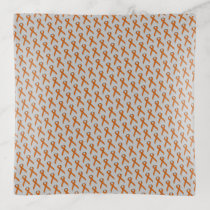 Orange Standard Ribbon by Kenneth Yoncich Trinket Trays