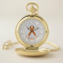 Orange Standard Ribbon (Cf) by K Yoncich Pocket Watch
