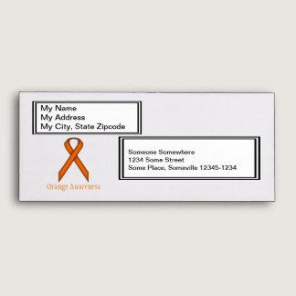 Orange Standard Ribbon Envelope