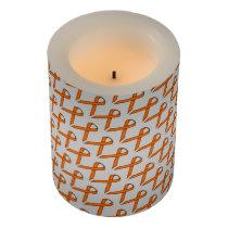 Orange Standard Ribbon Flameless Candle