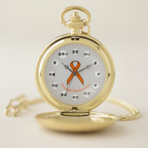 Orange Standard Ribbon (Kf) by K Yoncich Pocket Watch