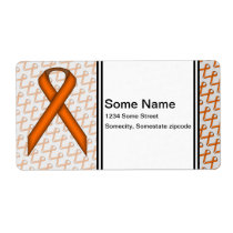 Orange Standard Ribbon Label