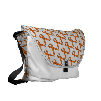 Orange Standard Ribbon Messenger Bag