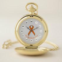 Orange Standard Ribbon (Mf) by K Yoncich Pocket Watch