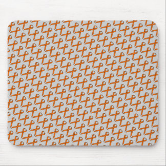 Orange Standard Ribbon Mouse Pad