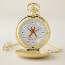 Orange Standard Ribbon (Rf) by K Yoncich Pocket Watch