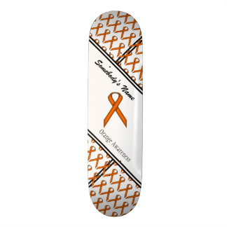 Orange Standard Ribbon Skateboard Deck