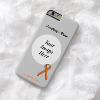 Orange Standard  Ribbon Template Barely There iPhone 6 Case