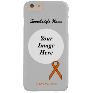 Orange Standard Ribbon Template Barely There iPhone 6 Plus Case