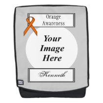 Orange Standard Ribbon Template by Kenneth Yoncich Backpack