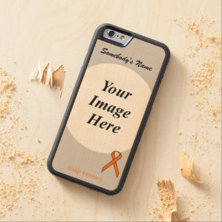Orange Standard Ribbon Template by Kenneth Yoncich Carved Maple iPhone 6 Bumper Case