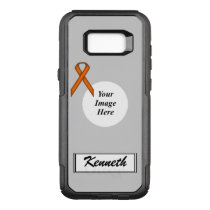 Orange Standard Ribbon Template by Kenneth Yoncich OtterBox Commuter Samsung Galaxy S8  Case