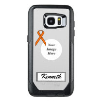 Orange Standard Ribbon Template by Kenneth Yoncich OtterBox Samsung Galaxy S7 Edge Case