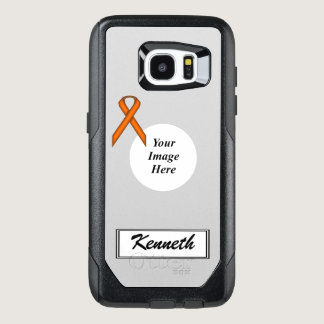 Orange Standard Ribbon Template by Kenneth Yoncich OtterBox Samsung Galaxy S7 Edge Case
