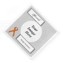 Orange Standard Ribbon Template by Kenneth Yoncich Paper Dinner Napkin