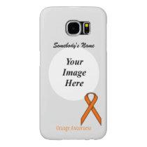 Orange Standard Ribbon Template by Kenneth Yoncich Samsung Galaxy S6 Case