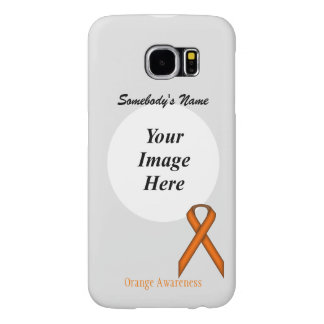 Orange Standard Ribbon Template Samsung Galaxy S6 Cases