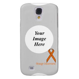 Orange Standard Ribbon Template Galaxy S4 Cover