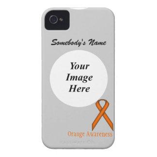 Orange Standard Ribbon Template Case-Mate iPhone 4 Cases