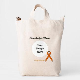 Orange Standard Ribbon Template Duck Bag