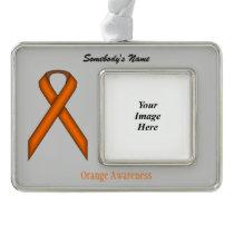 Orange Standard Ribbon Template (H-O) Ornament