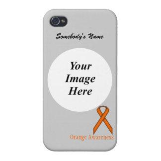 Orange Standard Ribbon Template iPhone 4/4S Covers