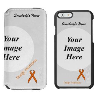 Orange Standard Ribbon Template iPhone 6/6s Wallet Case