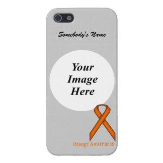 Orange Standard Ribbon Template iPhone SE/5/5s Cover