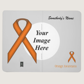 Orange Standard Ribbon Template Journal